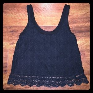 American Eagle outfitters front lace tank